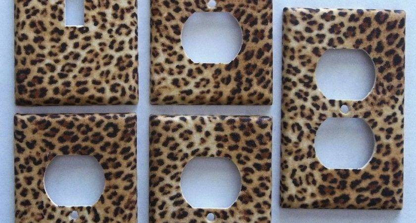 Leopard Animal Print Girls Light Switch Plate Bedroom