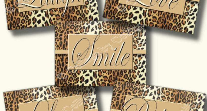 Leopard Cheetah Print Wall Art Decor Believe Live Love Smile