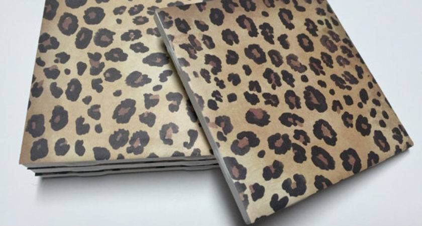 Leopard Print Coasters Cheetah Home Decor Drink