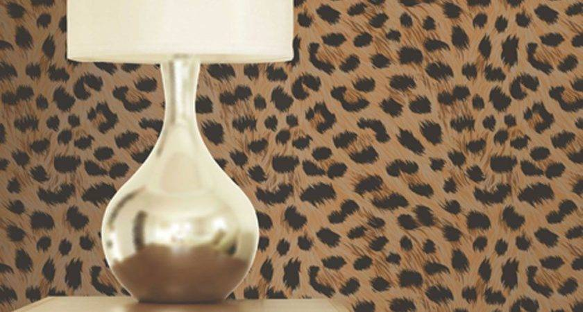 Leopard Print Gold Brown Pattern Bedroom
