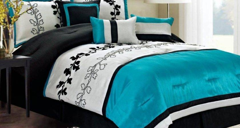 Light Blue Black White Bedroom Ideas Decor