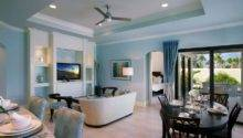 Light Blue Walls Rendering Living Room Interior Design