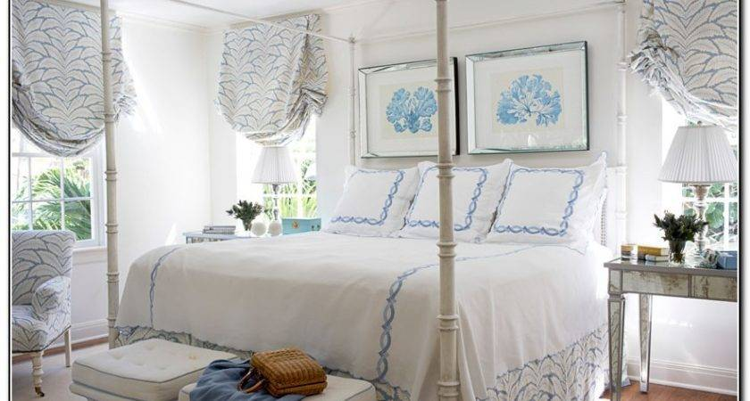 Light Blue White Bedding Home Design