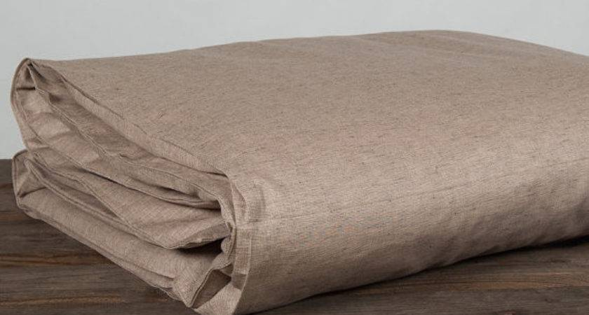 Light Brown Linen Duvet Cover Bedding