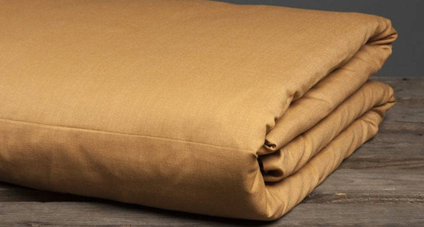 Light Brown Linen Duvet Cover Queen King Twin Double