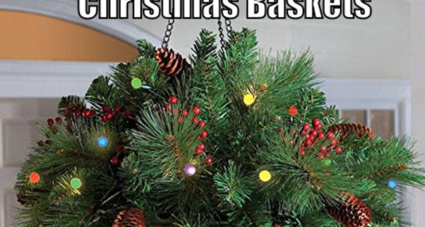 Lighted Christmas Hanging Baskets Lights Outdoor