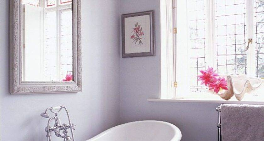 Lilac Grey Bathroom Antique Mirror Housetohome