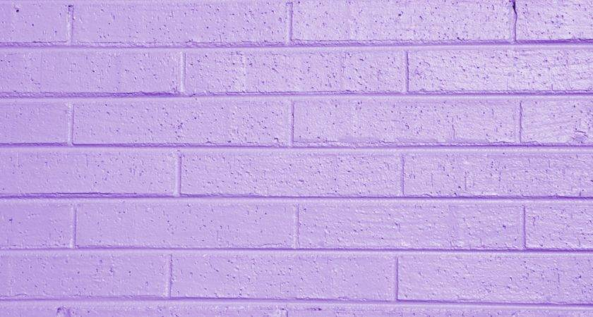 Lilac Lavender Painted Brick Wall Texture