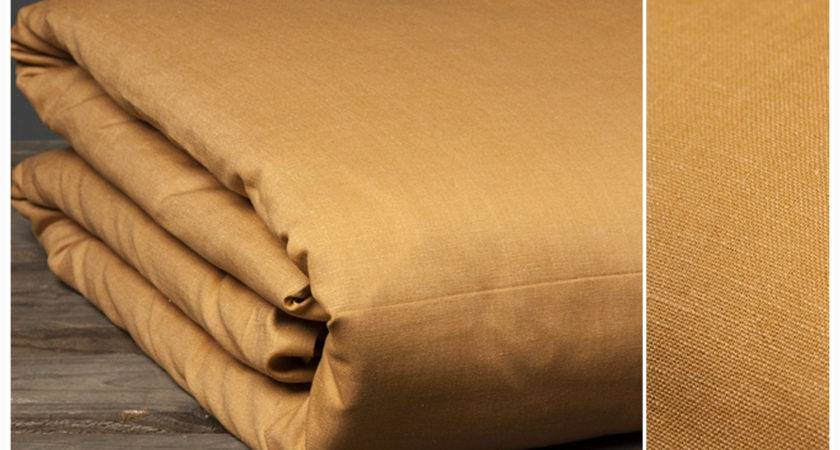 Linen Duvet Cover Light Brown Super King Queen Melange