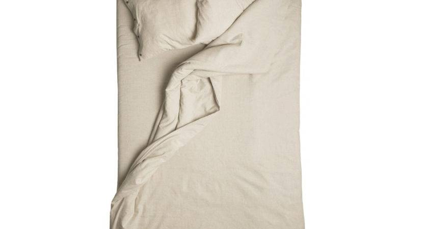 Linen Duvet Cover Sand Brown