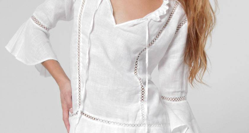 Linen Flirty Boho Top White Shop Claudio Basic