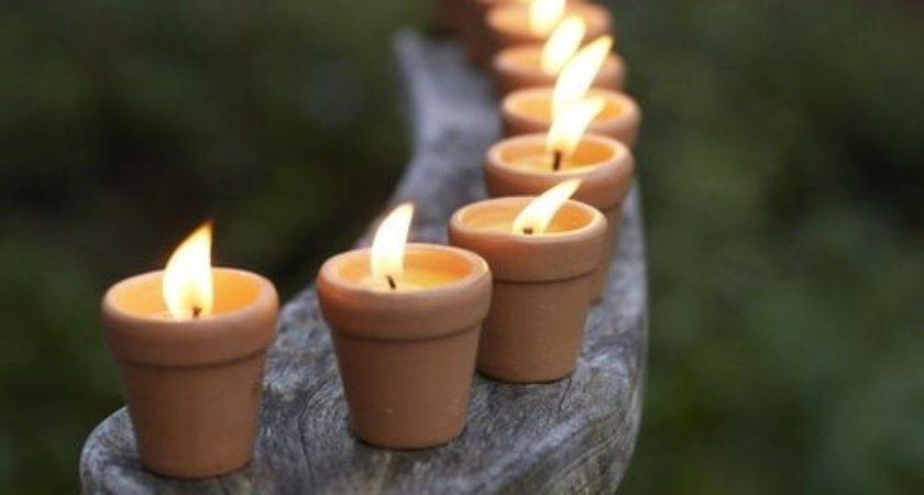 Little Clay Pots Used Candle Holders Home Decor