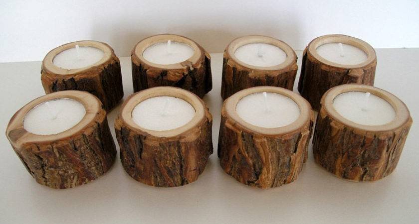 Little Dudes Rustic Candle Holders Thebenttreegallery