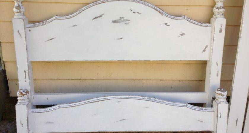 Living Above Line Diy Shabby Chic Bed