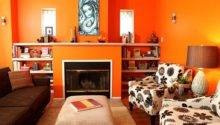 Living Area Energetic Orange Home Decor Latest