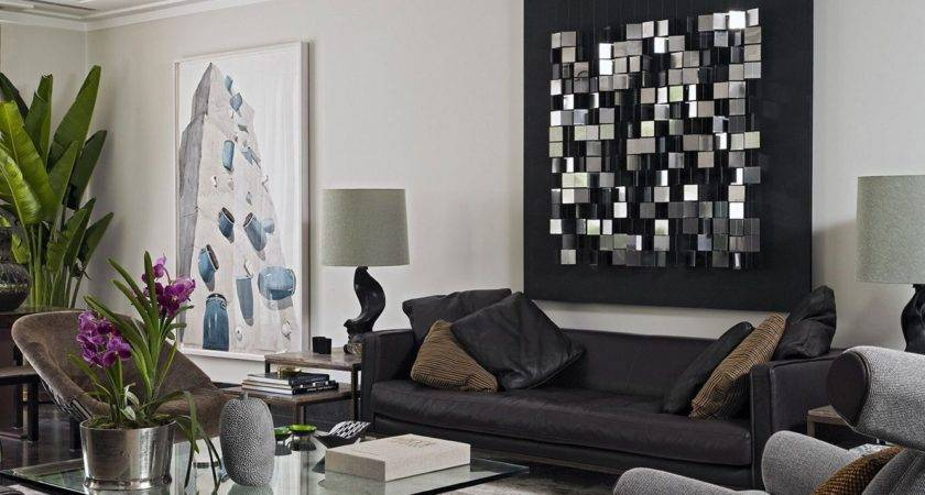 Living Room Amazing Simple Wall Ideas Large