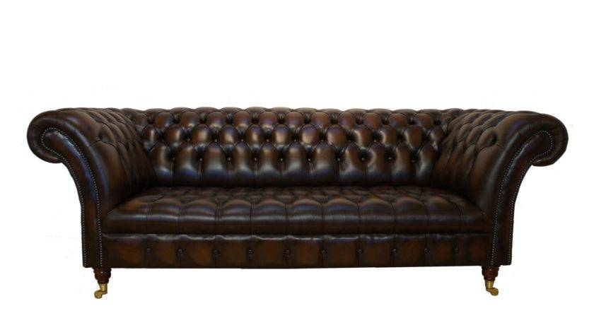 Living Room Black Leather Chesterfield Sectional Sofa