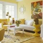 Living Room Bright Yellow Decoration