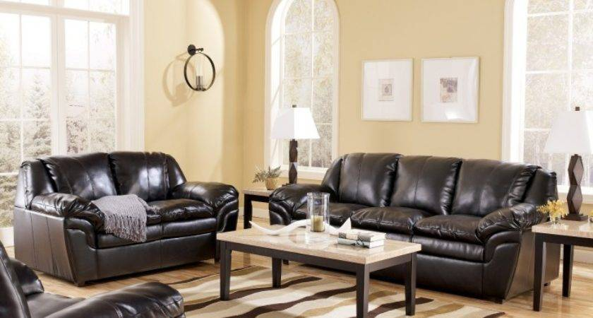 Living Room Captivating Black Leather Couch Your