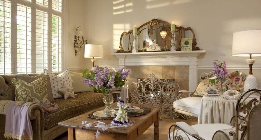 Living Room Charming French Style Sets