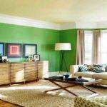Living Room Chocolate Brown Lime Green