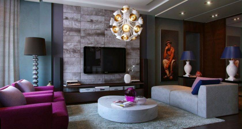 Living Room Color Purple Home Decorating Ideas