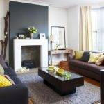 Living Room Decorating Ideas Dark Brown Sofa