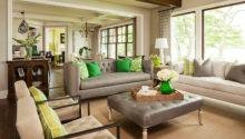 Living Room Green Accents Photos