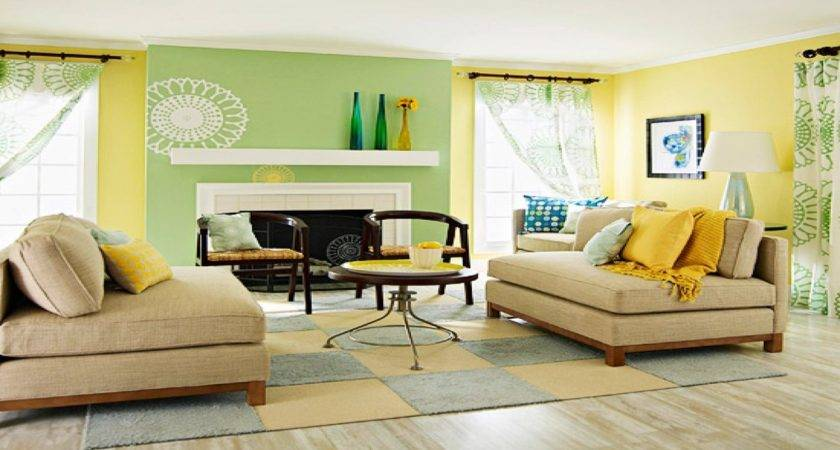 Living Room Ideas Yellow Blue Modern House