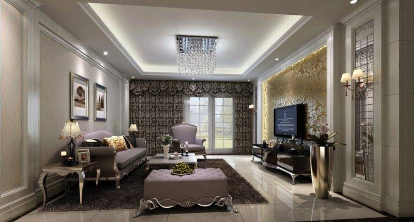 Living Room Interiors Wall Paper Designs House