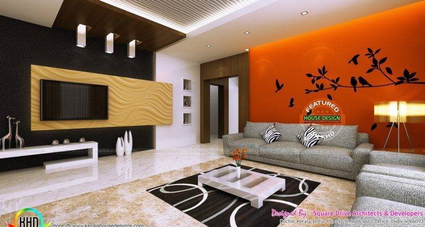 Living Room Ladies Sitting Bedroom Interiors Kerala