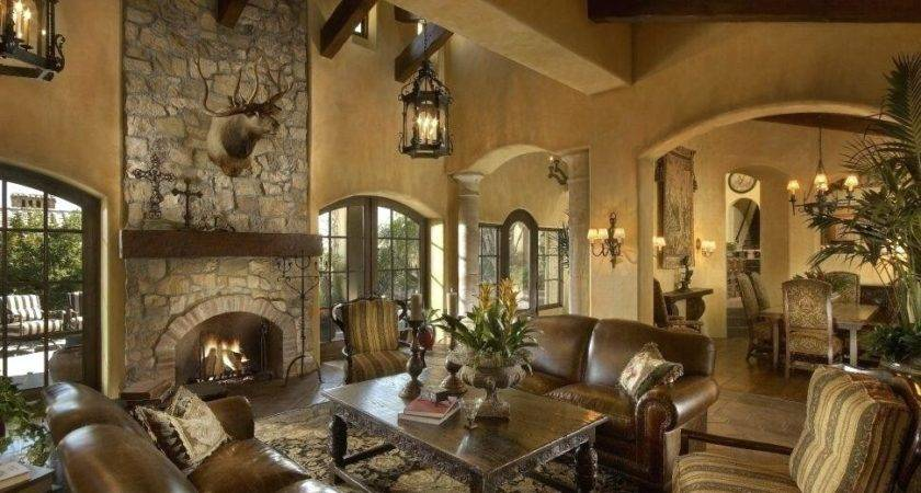 Living Room Mediterranean Interior Design