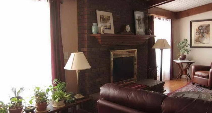 Living Room Painting Two Colors Interior