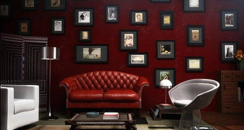 Living Room Red Decoration