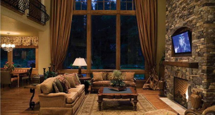 Living Room Rustic Design Ideas Drapery