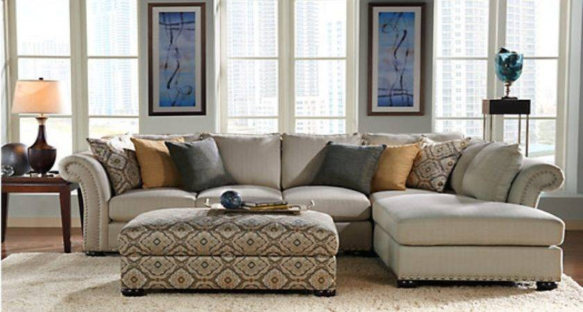 Living Room Taupe Sectional Gold Pillows