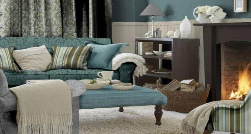 Living Room Teal Accents Decorations
