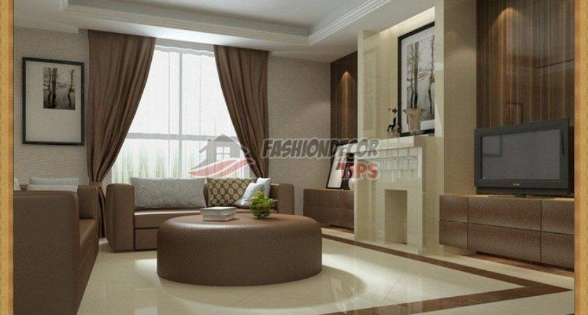 Living Room Two Color Wall Combinations Designs
