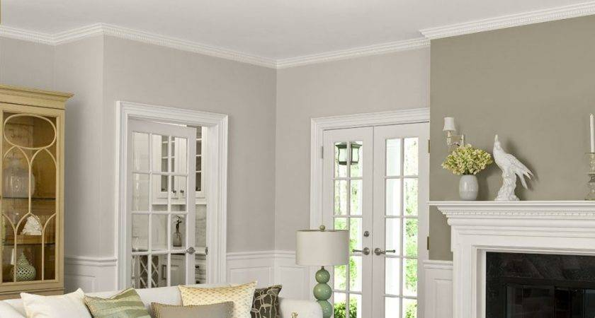 Living Room Two Tone Walls Yellow Paint Colors