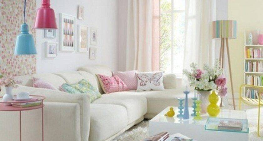 Living Rooms Beautiful Pastel Colors