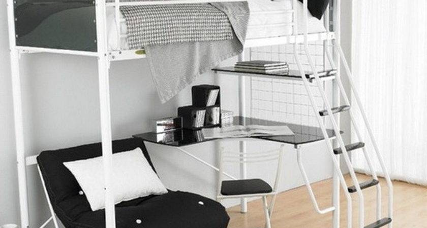 Loft Bed Desk Couch Home Design Ideas