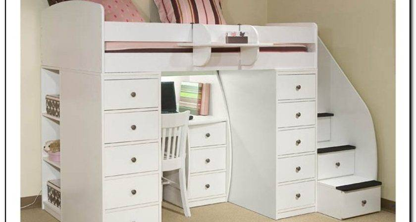 Loft Bed Desk Stairs Beds Home Design Ideas