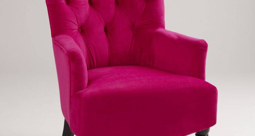 Look Less Fuchsia Wing Chairs
