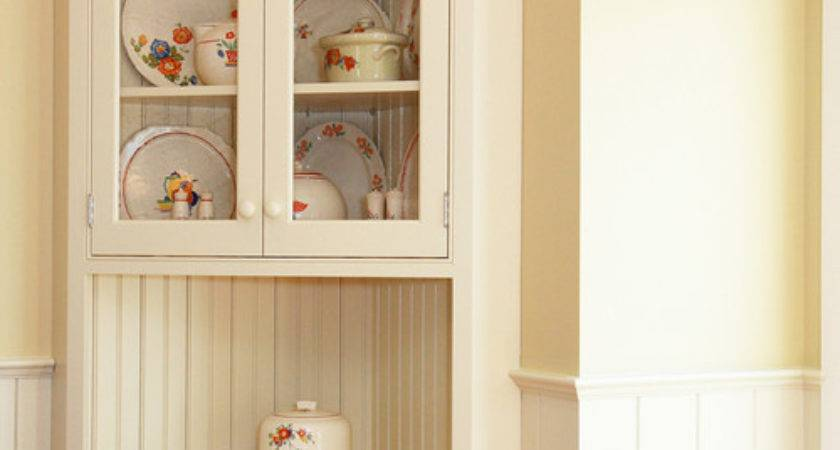 Looking Corner Hutch Small Dining Area