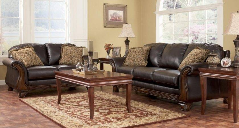 Lovely Cozy Ashley Furniture Traditional Living Room Sets