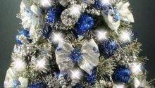 Lovely Silver Blue White Christmas Tree