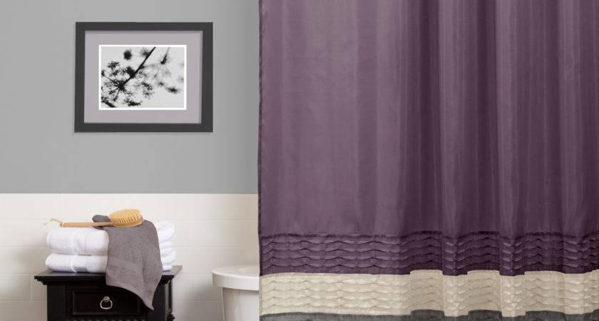 Lush Decor Mia Purple Gray Shower Curtain