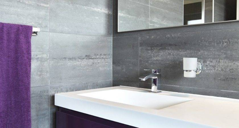 Lux Grey Purple Bathroom Design Architecture Centre