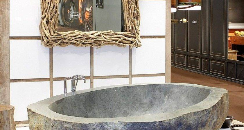 Luxurious Bathrooms Most Stunning Natural Rock Bathtubs