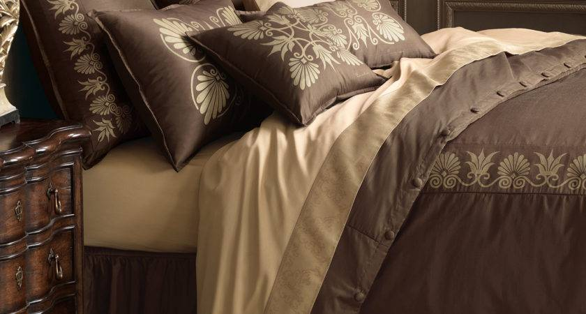Luxury Bedding Eastern Accents Anthemion Brown Gold